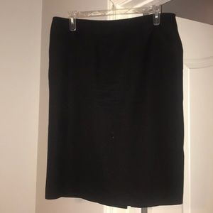 Black Suit Skirt